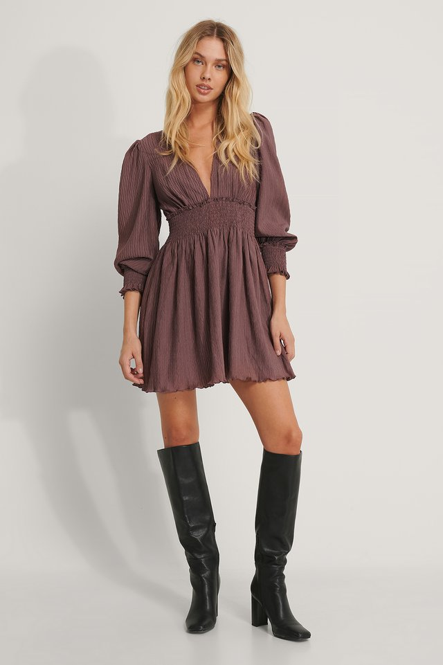 Robe Mini Rose Taupe
