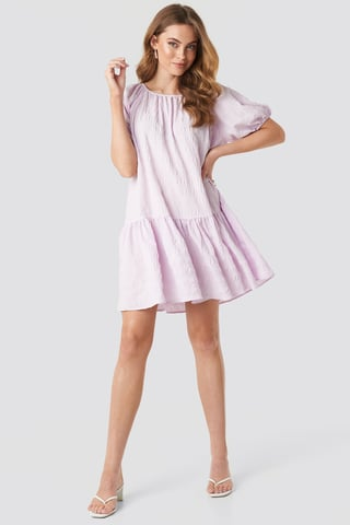 Lilac Structured Tiered Mini Dress
