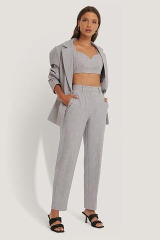 Light Grey Pantalon De Costume
