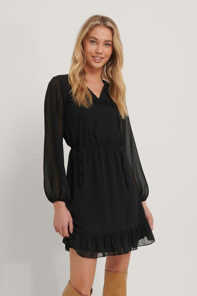 Robe Mini Nouée Black