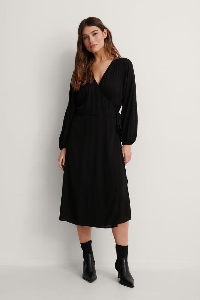 Black Robe Midi Portefeuille