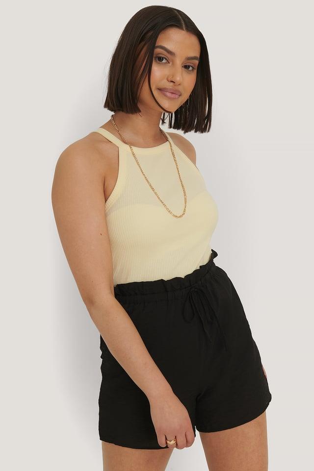 Shorts Taille Haute Black