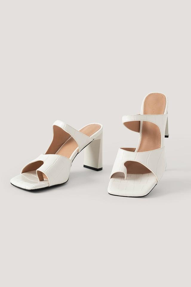 White Sandales À Double Bride