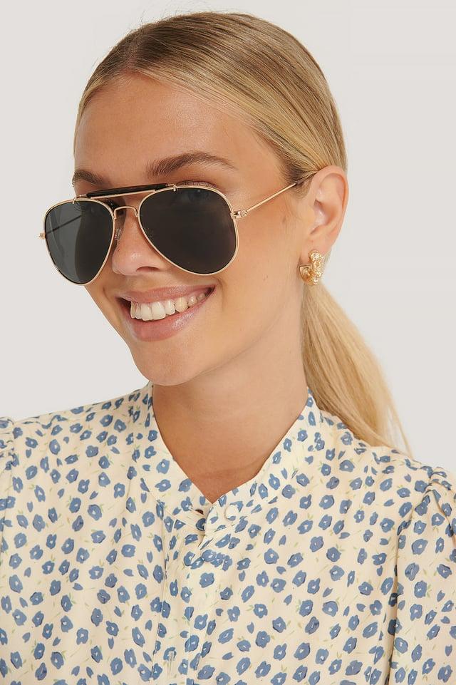 Top Bridge Pilot Sunglasses Gold