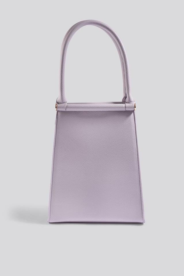 Lilac Top Handle Trapeze Bag