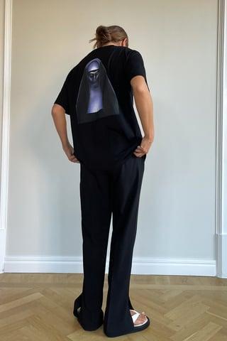 Black The Nun T-Shirt Imprimé Unisexe