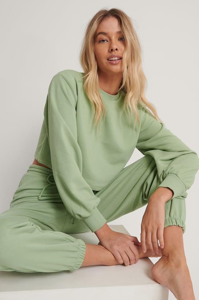 Green Biologique Sweatshirt Court