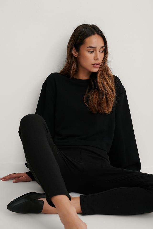 Biologique Sweatshirt Court Black