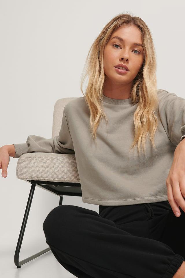 Grey Biologique Sweatshirt Court