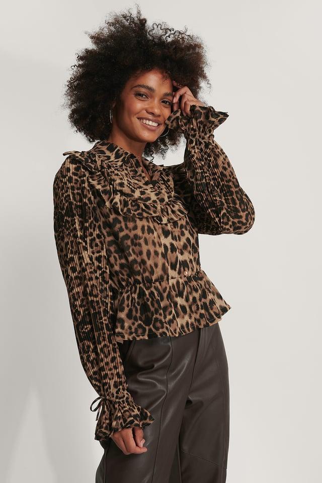 Chemisier Mousseline Leopard