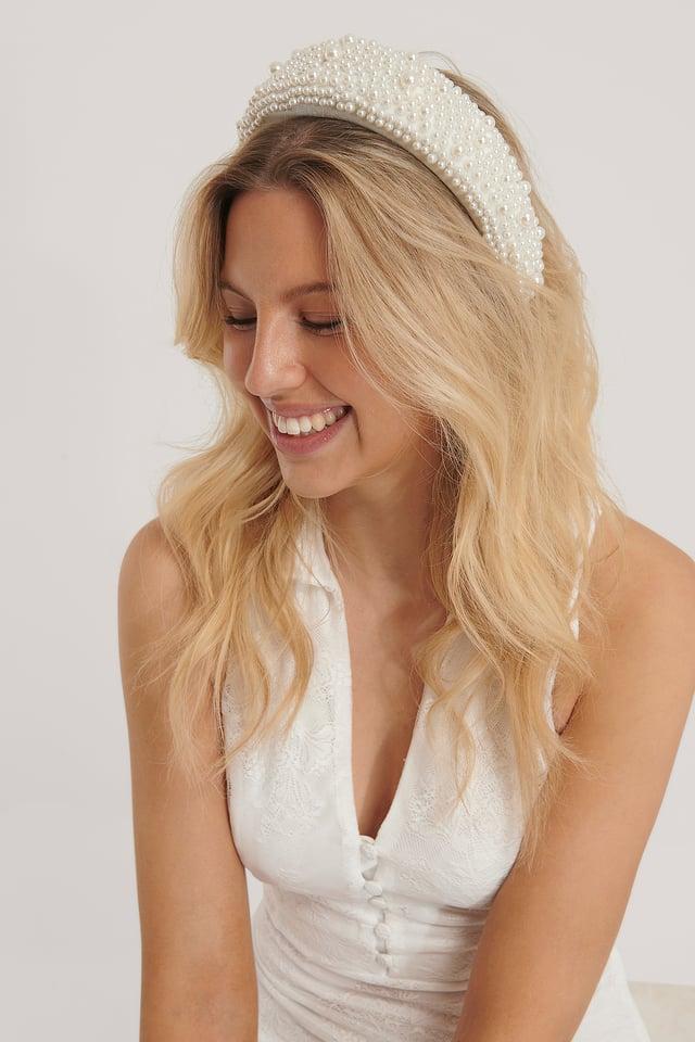 White Serre-Tête Perle Vintage