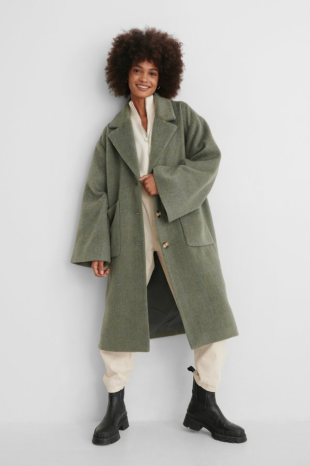 Green Manteau Long