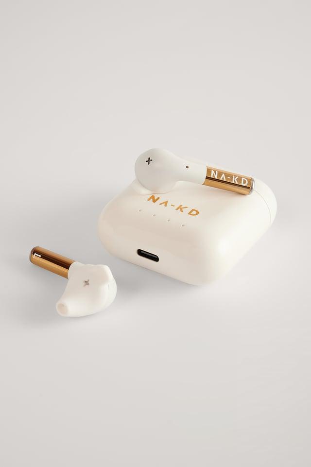 Aspen White NA-KD Wireless Headphones