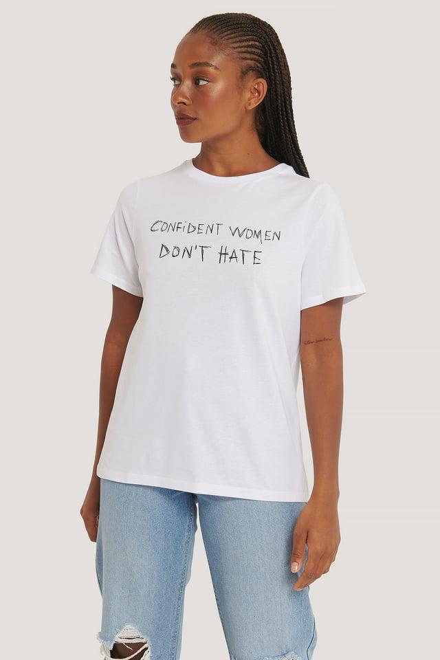 Tee-Shirt Surdimensionné Imprimé White