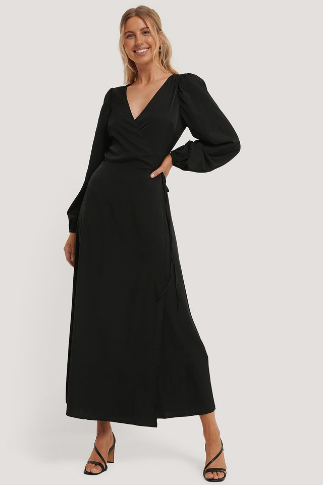 Robe Cache-Coeur Black