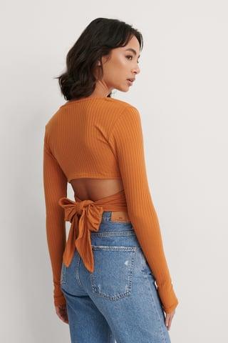 Orange Haut Avec Détails