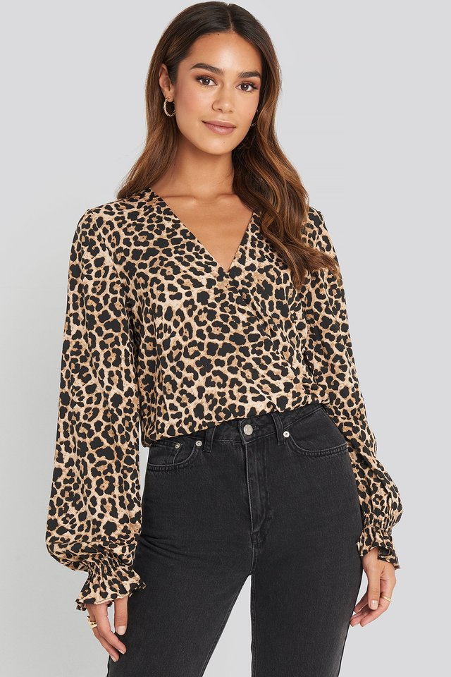 Wrap Over Blouse Leoprint