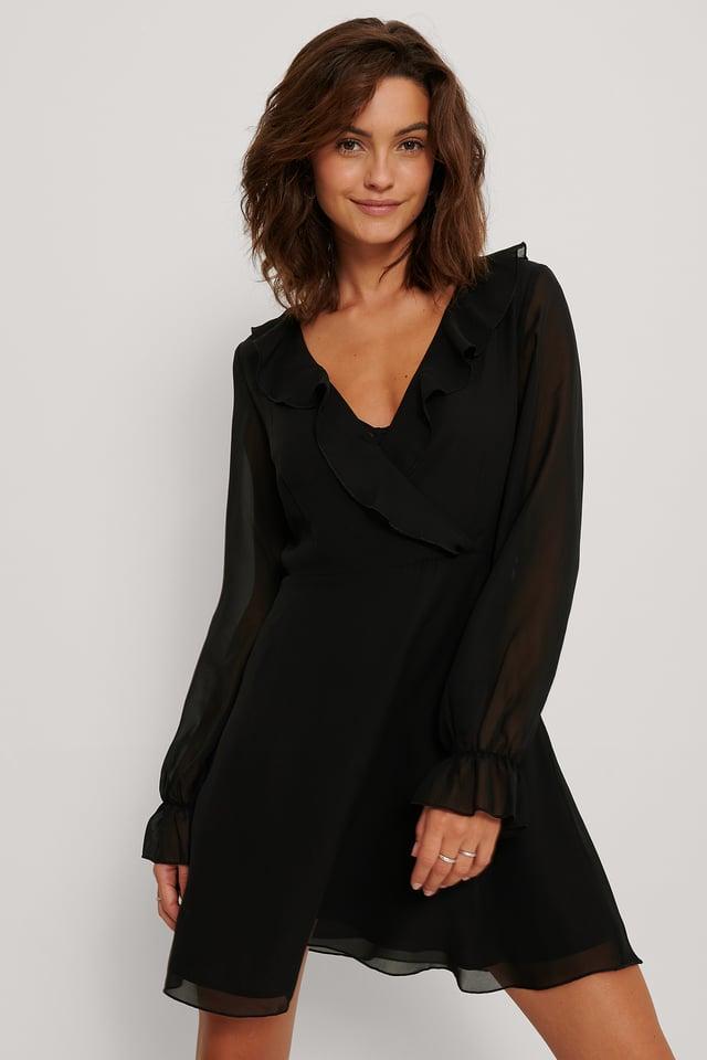 Robe Cache-Coeur Black
