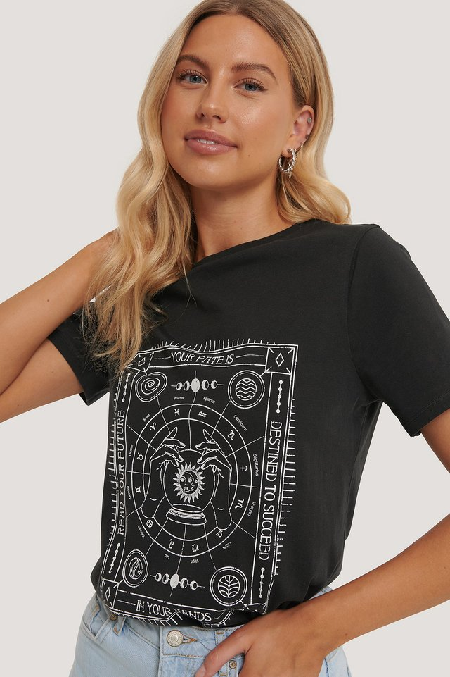 Tee-Shirt À Motifs Off Black