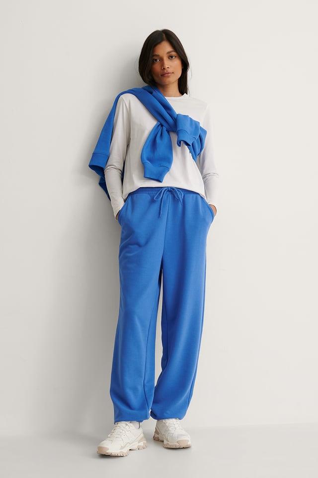 Blue Biologique Pantalon De Survêtement