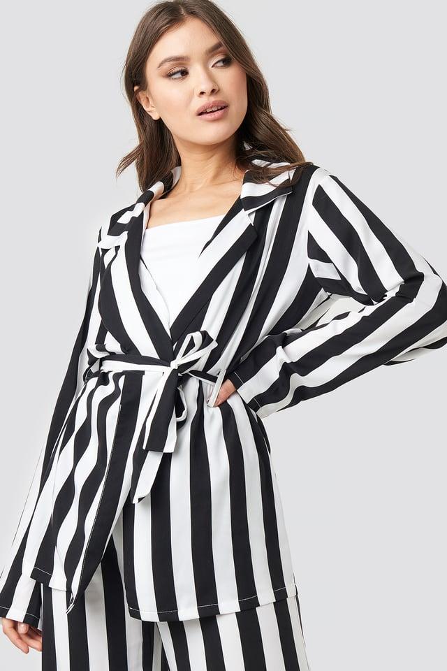 Black/White Stripe Irene Shirt