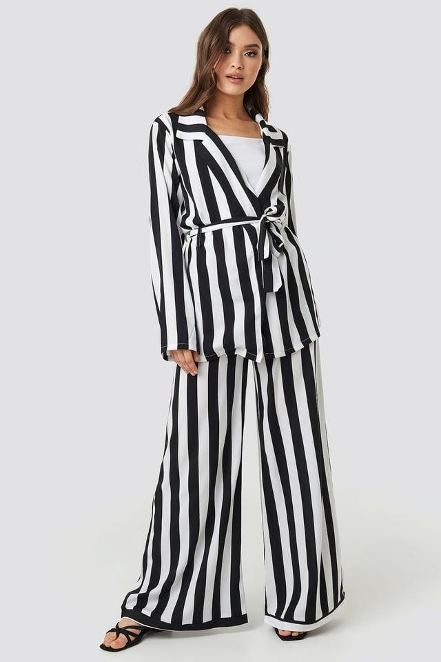Black/White Stripe Irene Pants