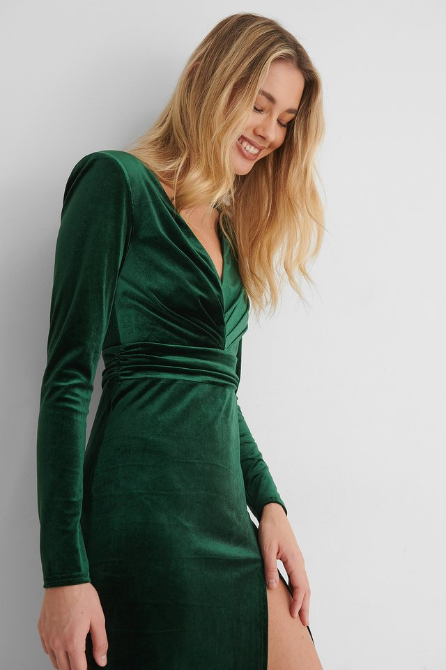 Robe Taille Marquée Green