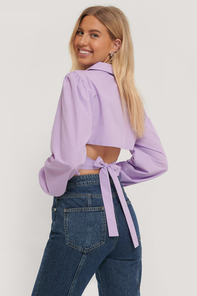Lilac Chemise Dos Ouvert