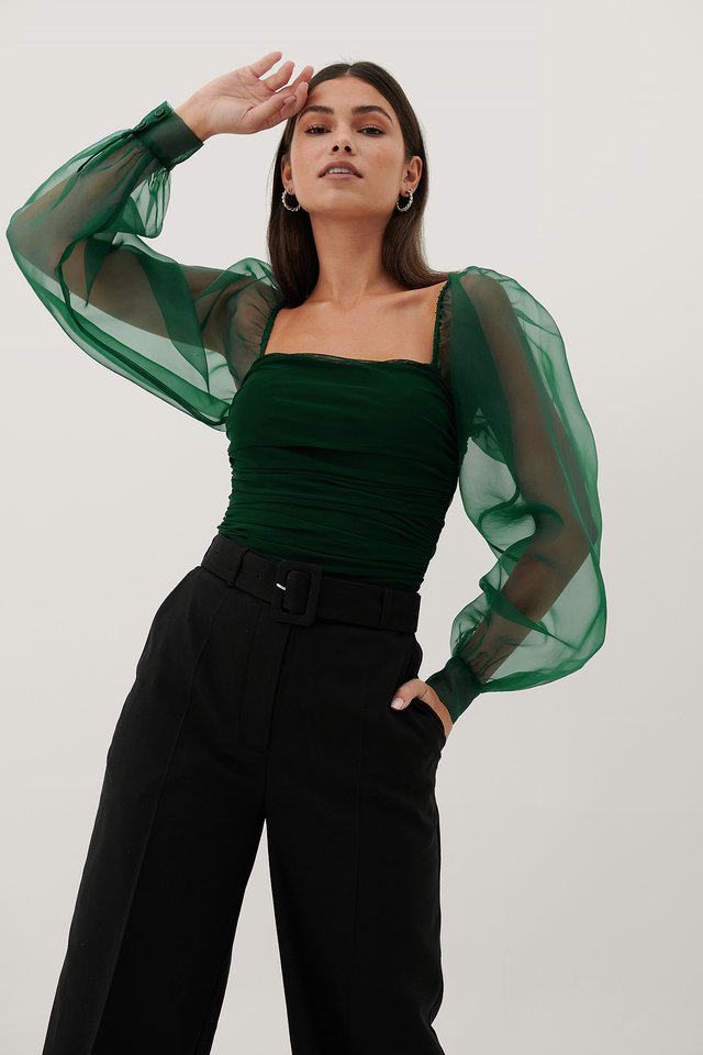 Haut Dark Green