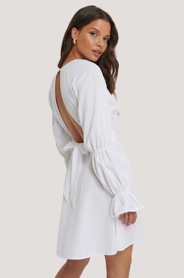 Robe Dos Ouvert White