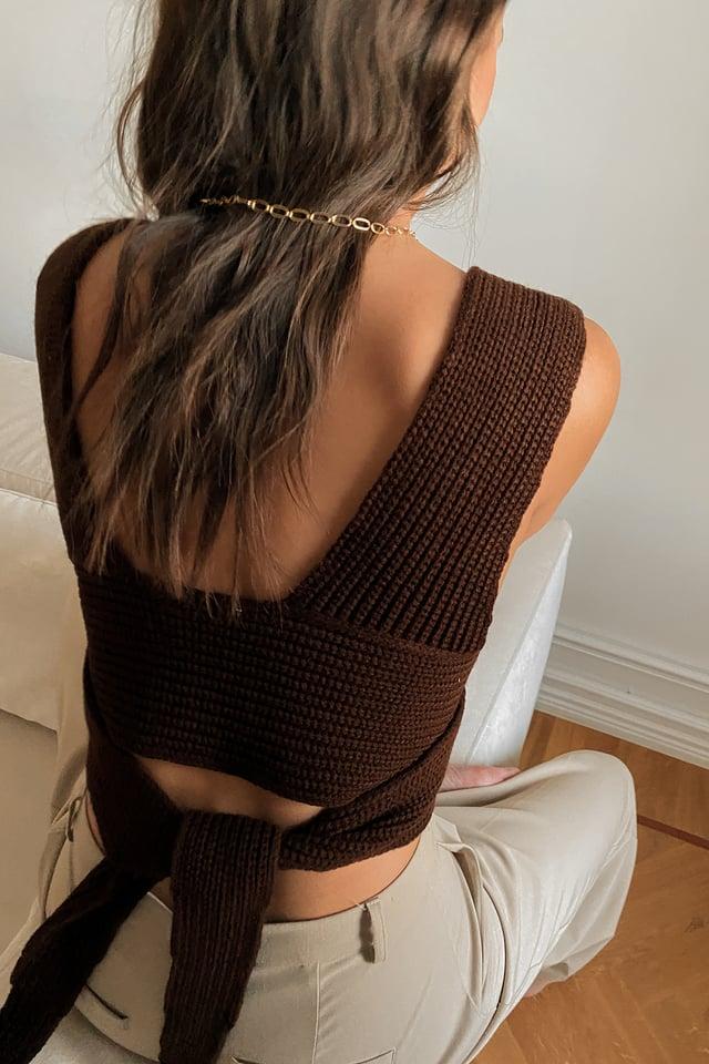 Brown Haut Tricoté