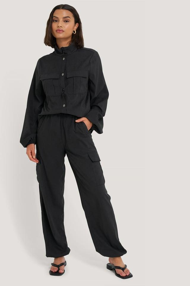 Pantalon À Poches Black