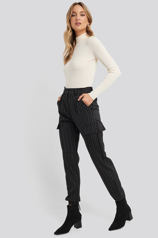 Nia Pants Black/Cream