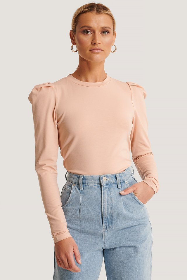 Misty Rose Perle LS Top