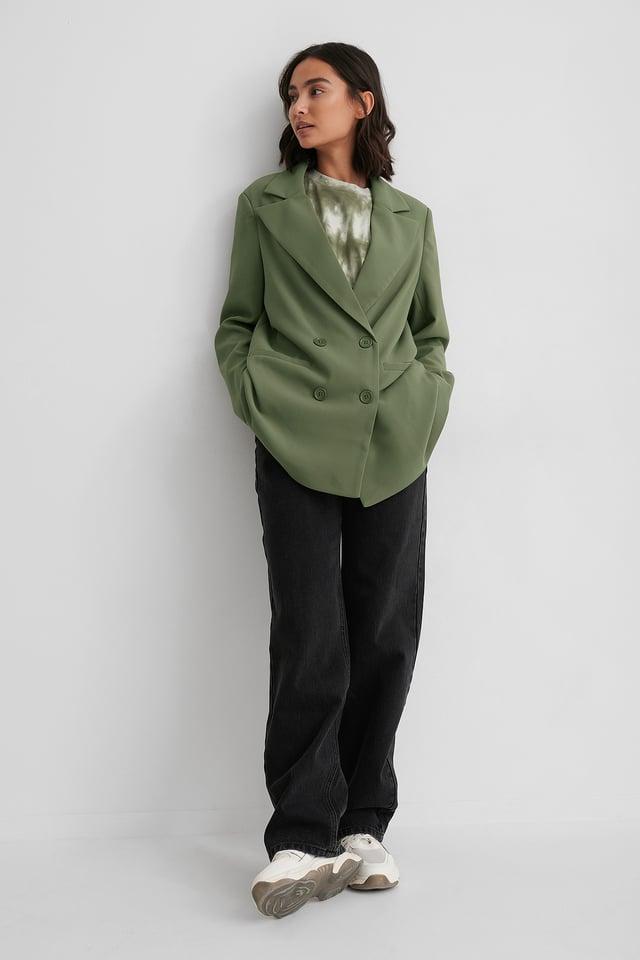 Blazer Surdimensionné Dark Green