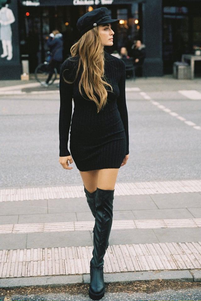 Recyclée Robe Mini Black
