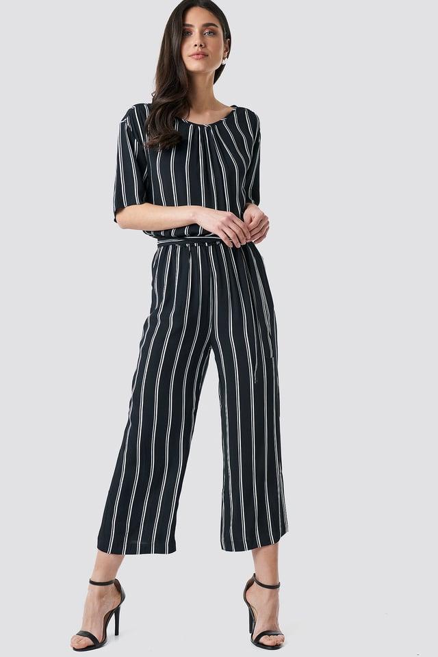 Black Tula Stripe Jumpsuit