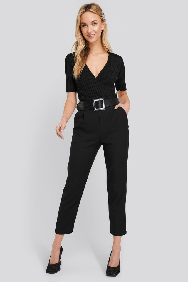 High Waist Straight Pants Outfit