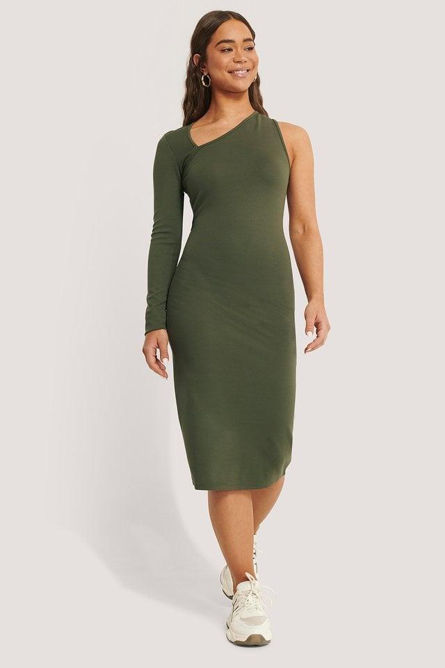 Cut Detail Jersey Dress