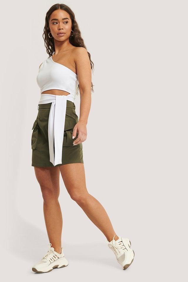Pocket Belted Skirt