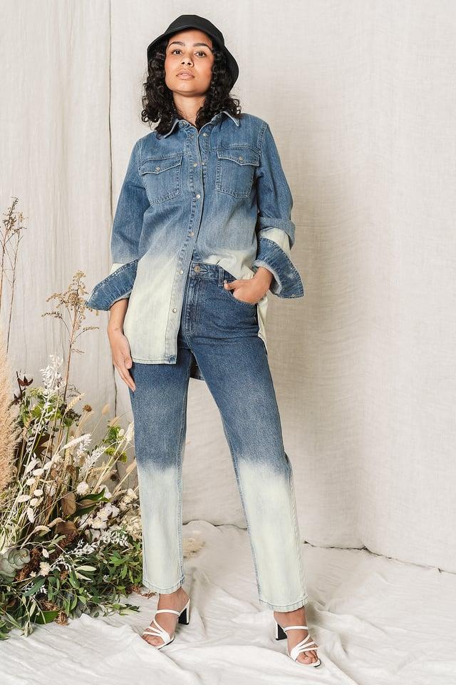 Dark Blue Chemise En Jean