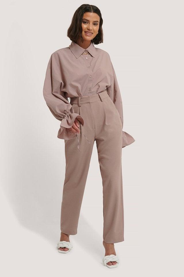 Offwhite Pantalon De Costume Court À Pinces