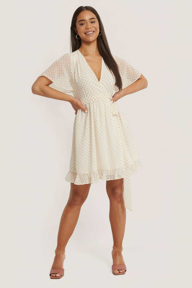 Overlap Flounce Dress
