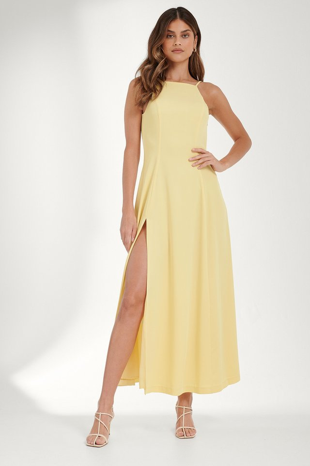 Open Back Maxi Dress Outfit