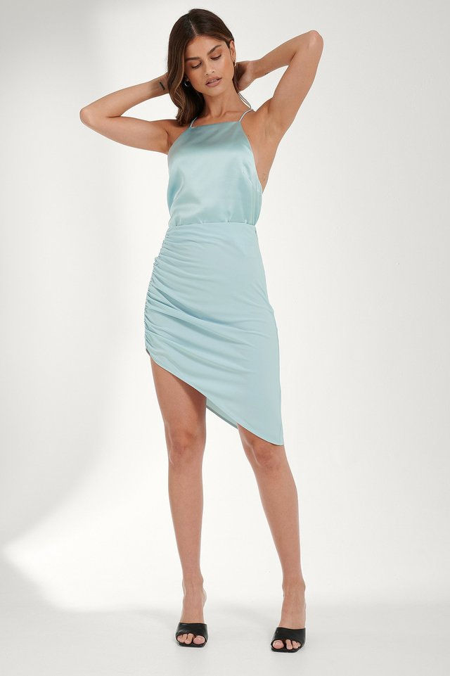 Open Back Satin Singlet Outfit