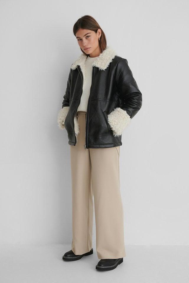 Faux Fur Detail Jacket