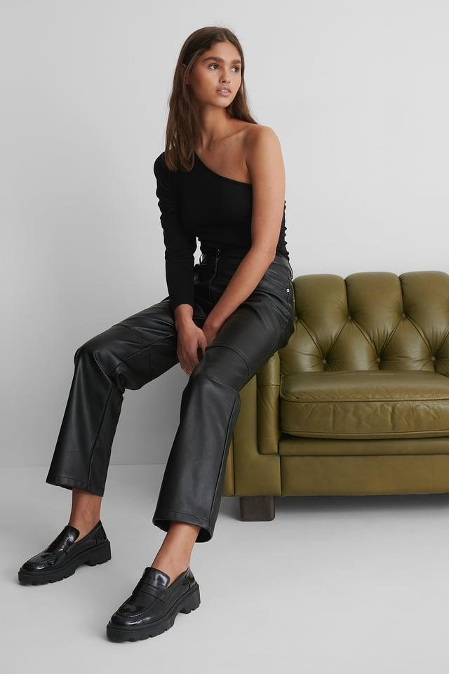 Black Pantalon Droit