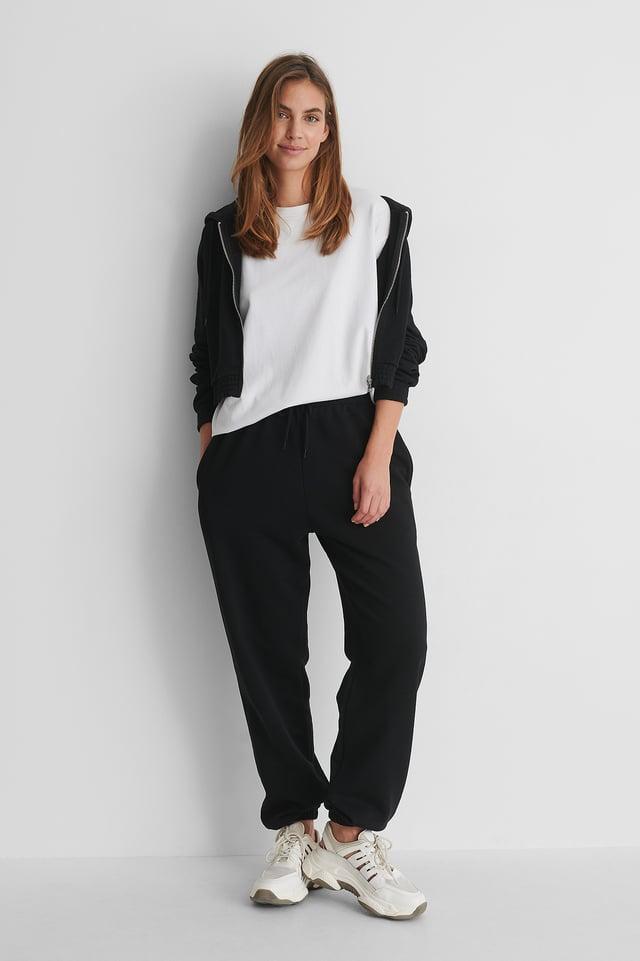 Black Biologique Pantalon De Survêtement