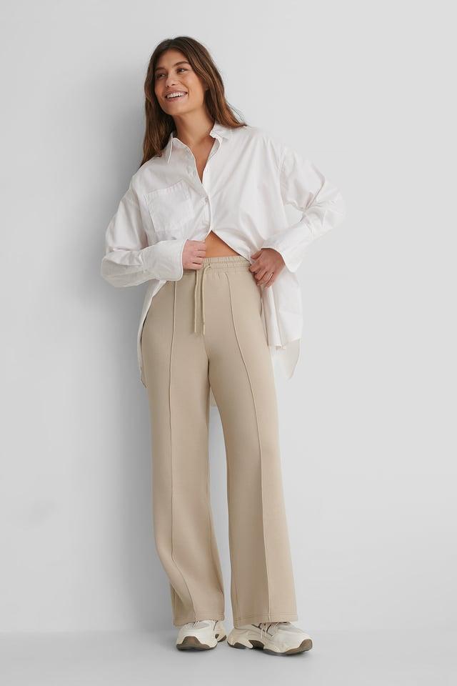 Mango Neosoft Trousers with Oversized Pocket Shirt.