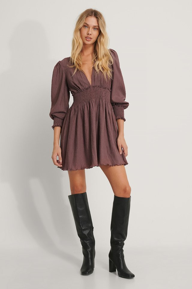 Rose Taupe Robe Mini
